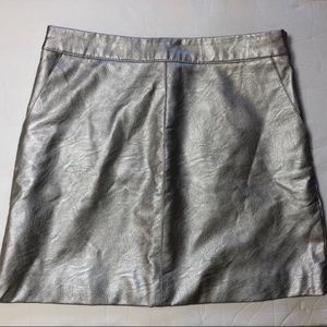Topshop petite faux vegan leather mini skirt